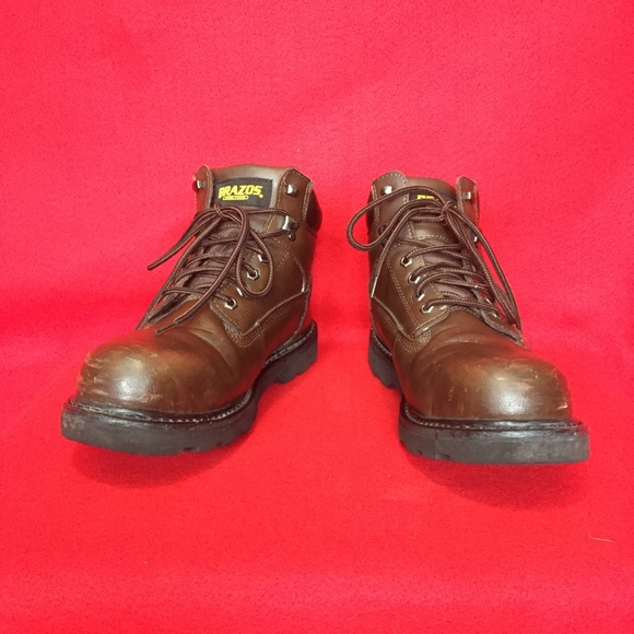 Mens Brazos Steel Toe Work Boots Size D